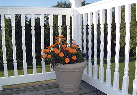 vinyl balusters for vinyl railing porch