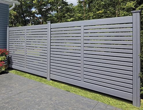 Breezewood Semi-Private Textured vinyl fence