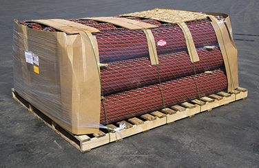 box of chain link fence slats