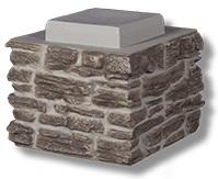 faux rock pillar cap