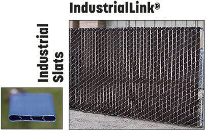 pre-inserted industriallink slats for industrial chain link fences