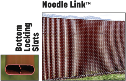 noodle link bottom locking fence slats