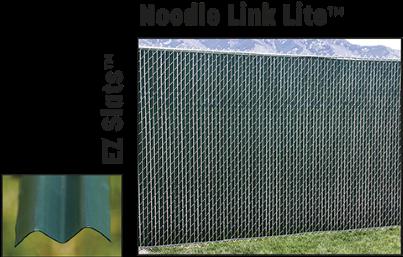 Noodle link lite privacy chain link fence slats