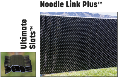 "Ultimate Slats factory inserted into 2"" chain link fence"