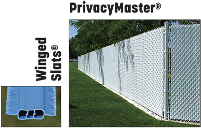PrivacyMaster winged chain link fence slats