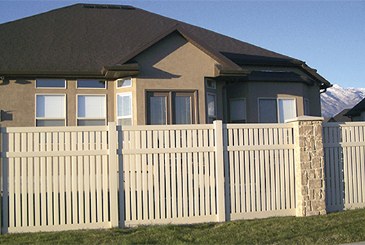 Classic Vinyl Privacy Fence in a nice yard