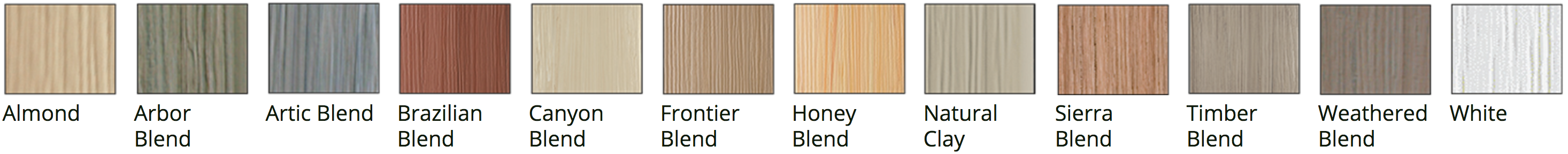 textured fence color options