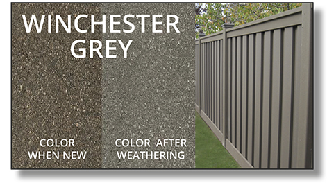 Trex Horizons® Composite Fence winchester grey color