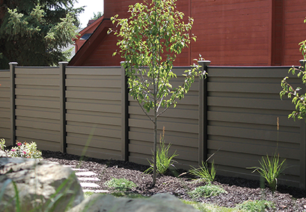 Trex Horizons Composite Fence horizontal