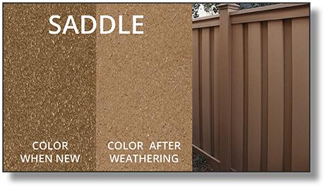 Trex Horizons® Composite Fence saddle color