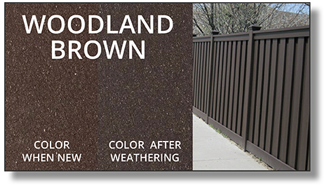 Trex Horizons® Composite Fence woodland brown color
