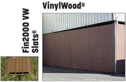 Vinylwood fake wood slats for fences