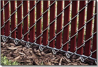 bottom view of noodlelink chain link fence