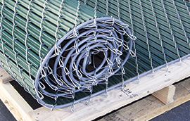 noodle link lite chain link fence slats in a roll