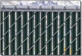 noodlelink lite chain link fence slats top view