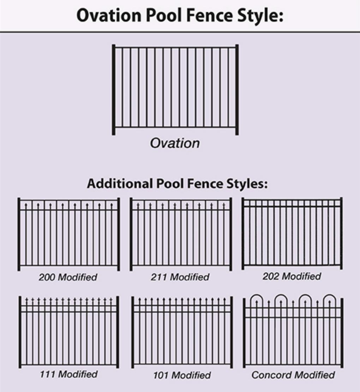 ovation aluminum pool fence styles