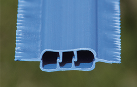 winged fence slat end view