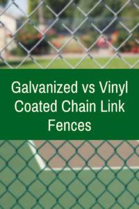 Galvanized Vs Vinyl Coated Chain Link Fences Privacylink