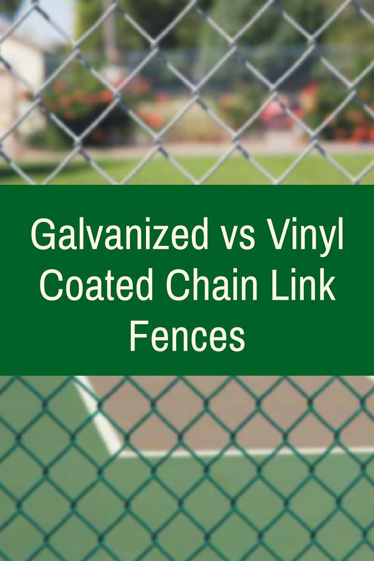 Galvanized vs Vinyl Coated Chain Link Fences | PrivacyLink