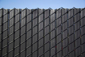 black privacylink chain link fence slats