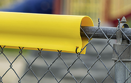safety top cap lite on chain link fence