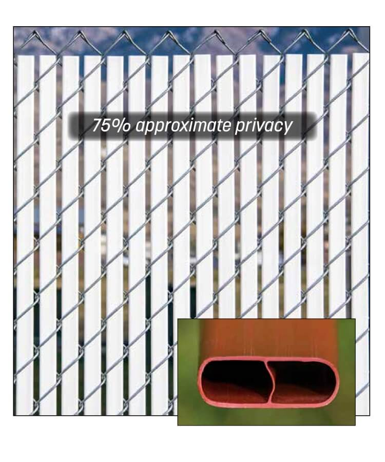 bottom locking double wall privacy slats for chain link fence