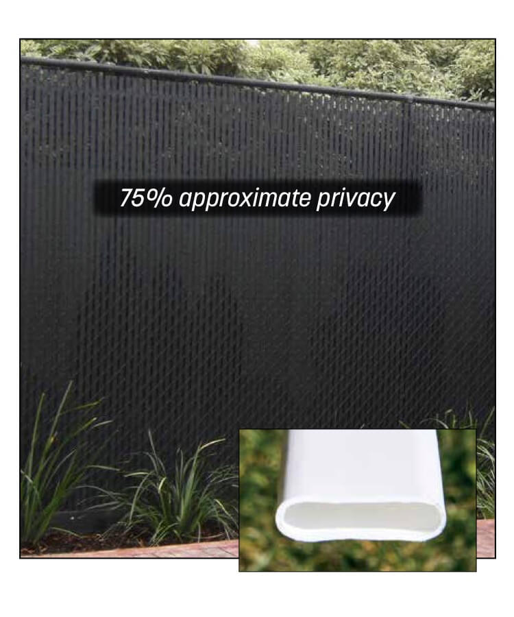 Top-Locking Double-Wall Slats for chain link fence privacy