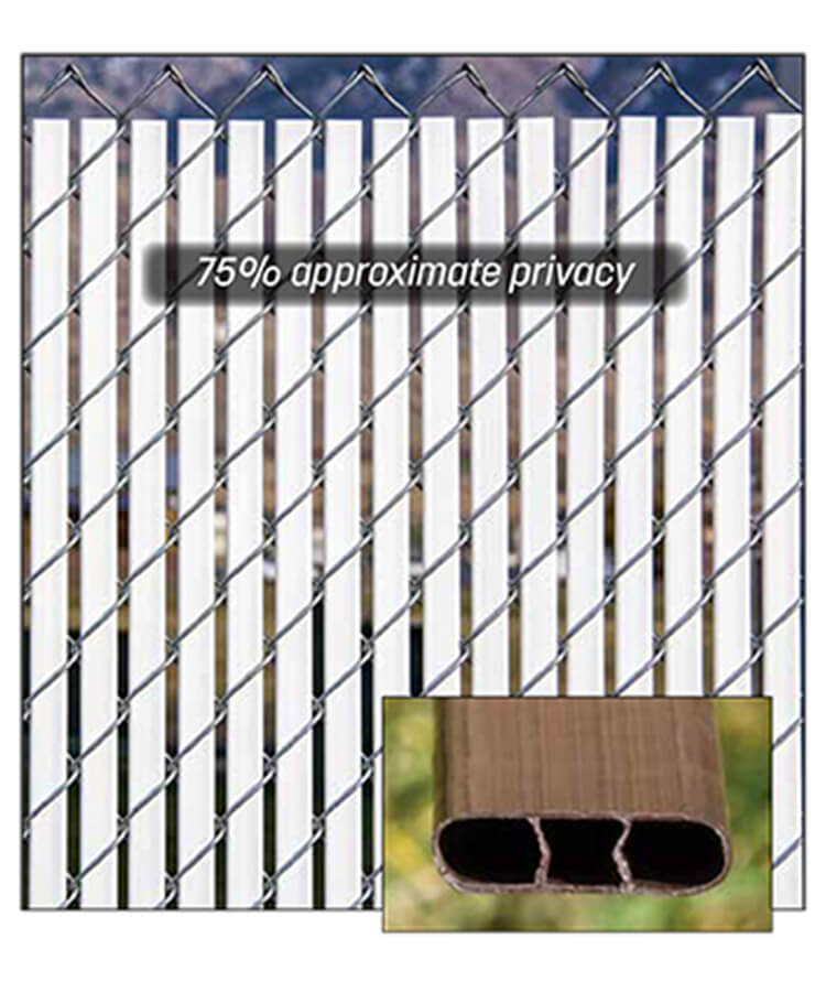 bottom locking double wall privacy slats for chain link fence with vinyl slats