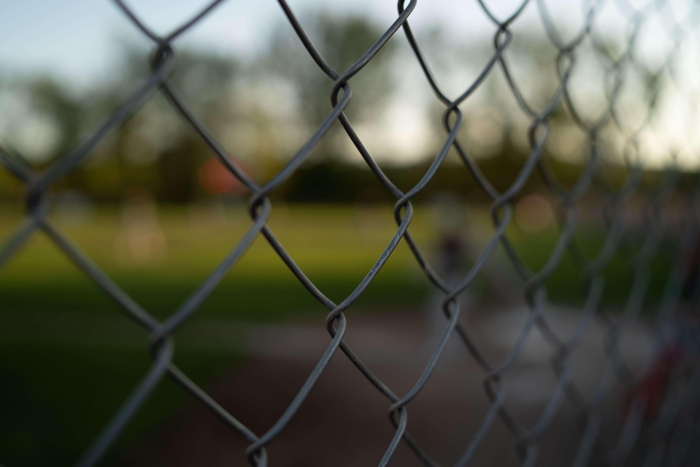 chain link fence cad details